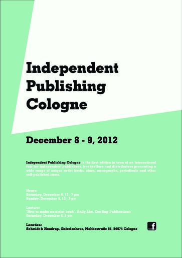 Independent Publishers Group: KHM-Verlag Auf Der Independent Publishing Cologne 2012